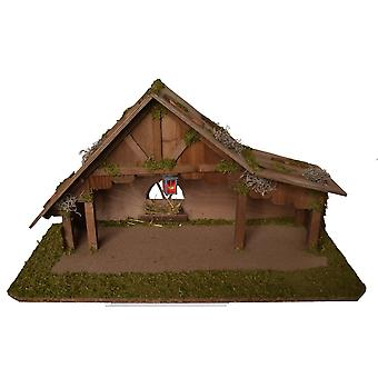 Crib Nativity scene wood Nativity MAGDALENA with Lantern hand work for characters up to 12 cm