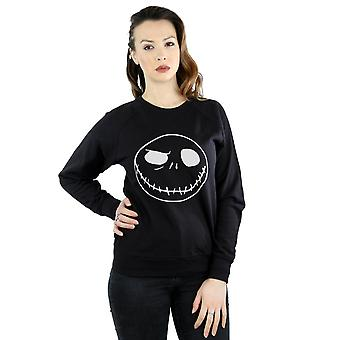 Disney Women's Nightmare Before Christmas Jack's Big Face Sweatshirt