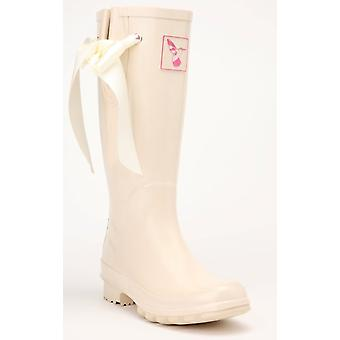 Evercreatures Ladies Bridal Wedding Rubber Wellies Silk Ribbon - Various Sizes