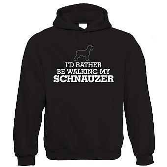 I'd Rather be Walking My Schnauzer, Funny Unisex Hoodie