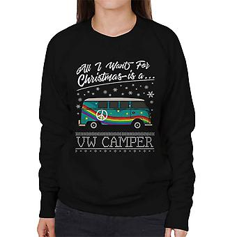All I Want For Christmas Is A VW Camper Women's Sweatshirt
