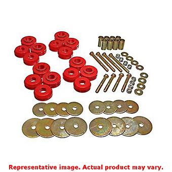 Energy Suspension Body Mount Set 4.4110R Red Fits:FORD 1966 - 1977 BRONCO  1968