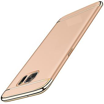 Cell phone cover case for Samsung Galaxy A5 2017 bumper 3 in 1 cover gold