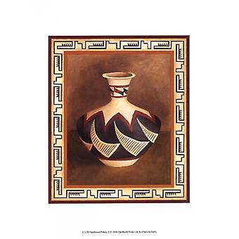 Southwest Pottery II Poster Print by Chariklia Zarris (10 x 13)