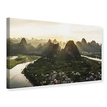 Impresión de lona las montañas de Xingping