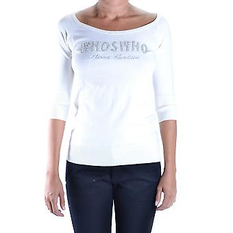 Who's Who Damen MCBI312006O Weiss Baumwolle Pullover