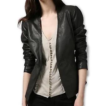 Womens Nicole Leather Blazer Coat