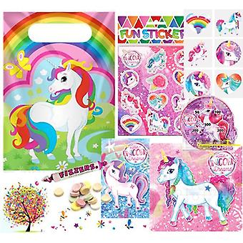 Pre Filled Ready Made Party Bag - Unisex - Unicorn (Single )