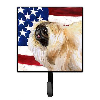 Carolines Treasures  BB9681SH4 Pekingese Patriotic Leash or Key Holder