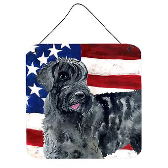 Giant Schnauzer Patriotic Wall or Door Hanging Prints