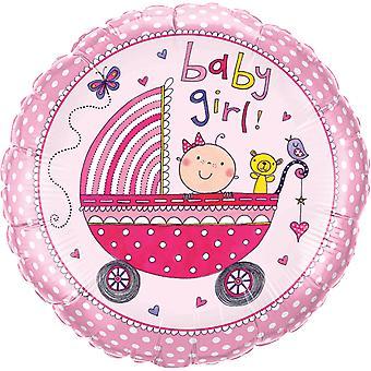 Фольга шар ребенка девушка рождения партии пола душ партии около 45 см