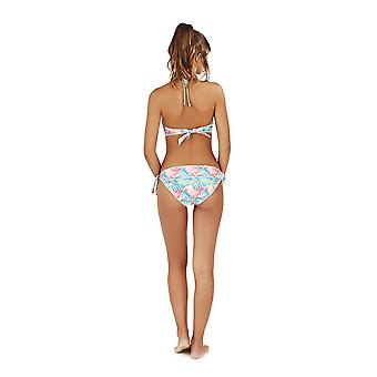 Boutique Ladies Aztec Neon Peach Bikini Set