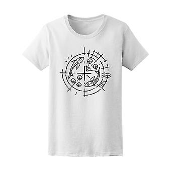 Christian Symbol Five Breads Tee Women's -Image by Shutterstock