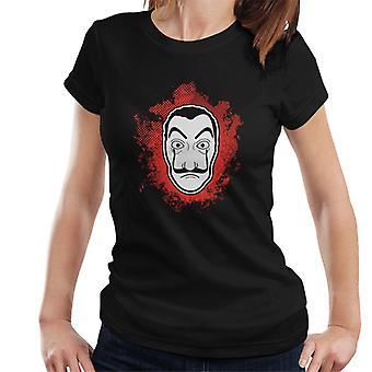 Casa De Papel soldi Heist t-shirt Dali maschera Splatter donna