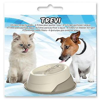 Agrobiothers 4 Filters For Trevi Pet Fontain (Dogs , Bowls, Feeders & Water Dispensers)