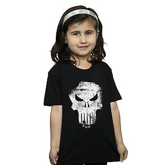 Marvel Girls The Punisher Distrressed Skull T-Shirt