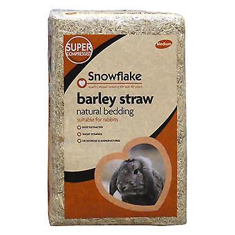 Snefnug Byg halm, naturlige strøelse til kanin, Medium