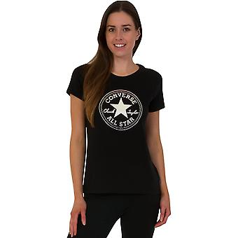 Converse Women's Clear Foil Chuck Patch T-Shirt