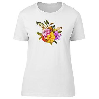 Hummingbird And Small Bouquet Tee Women's -Image by Shutterstock