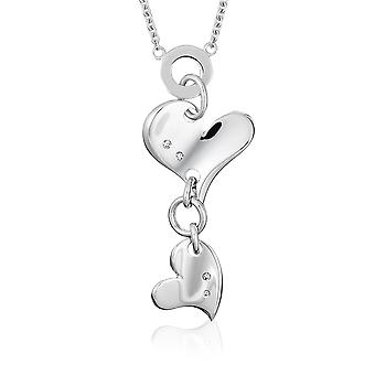 Orphelia Silver 925  Necklace With 3 Hearts 225  ZK-2754