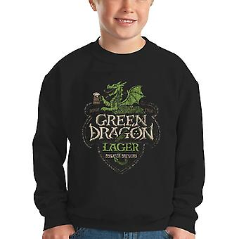 Lord Of The Rings Green Dragon Lager Kid's Sweatshirt