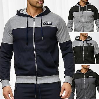 Men's Hooded Jacket Zip Hoodie track jacket sweat jacket pullover windbreaker