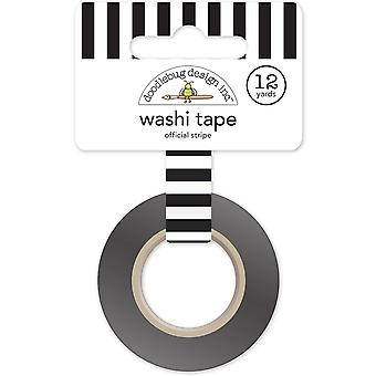 Doodlebug Washi Tape 15mm X 12yd-Goal!! Official Stripe