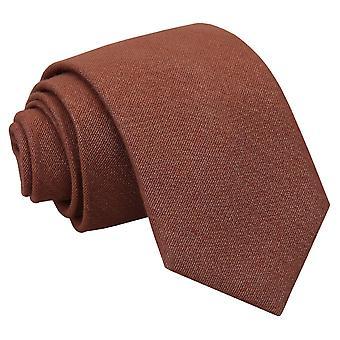 Brun ottomanska ull klassiska slips