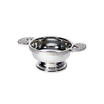 Small Embossed Paisley Pewter Quaich