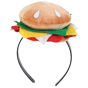 Haarreif Burger Hamburger Scherzartikel Accessoire