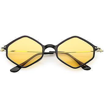 Геометрические шестиугольника очки ультра тонкий оружия цвета тонированные объектив 50 мм