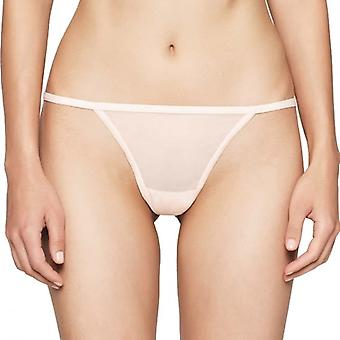Calvin Klein Women SHEER MARQ Thong, Nympths Thigh, Large
