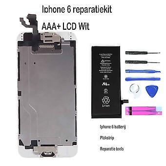IPhone 6 LCD reparera och uppgradera kit för nybörjare-vita