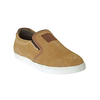 West Coast Choppers Brown-Chestnut Outlaw Suede Slip On Shoe