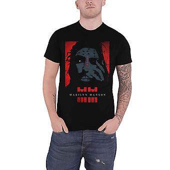 Marilyn Manson T Shirt Rebel potrait Pale emperor new Official Mens Black