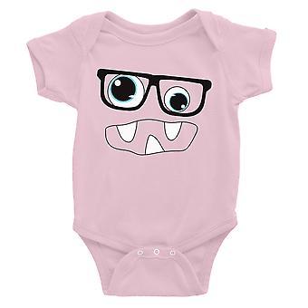 Monster mit Brille Baby Bodysuit Geschenk Pink