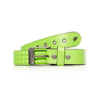 Lowlife Neon Green Cover Up Studded Belt