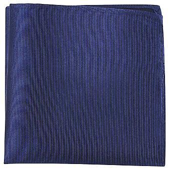 Knightsbridge Neckwear Ribbed Silk Pocket Square - Navy