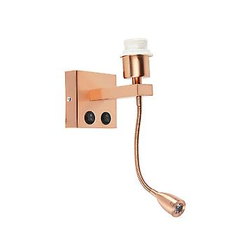 QAZQA Wall Lamp Brescia Combi Copper without Shade