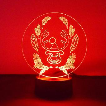 Funny Happy Circle Reindeer LED Acrylic Light