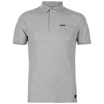 Firetrap Mens TxCllar Polo Slim Fit Shirt Tee Top