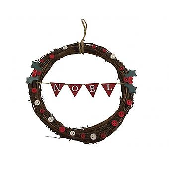 Gisela Graham Noel Twig Christmas Wreath Decoration