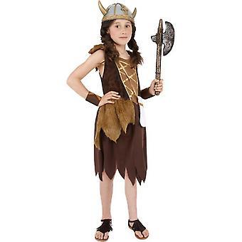 Wikinger Mädchen Kostüm, große 10-12 Jahren