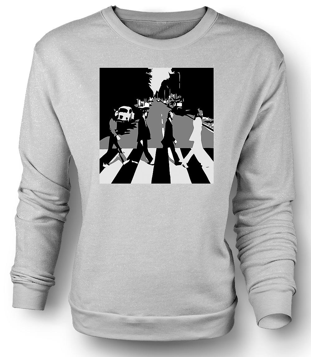 Herren Sweatshirt der Beatles-Abbey-Road - BW