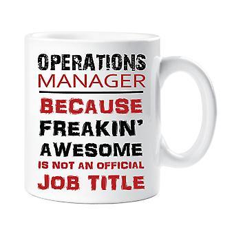 Betriebsleiter ist nicht weil genial Freakin eine offizielle Job-Titel-Becher