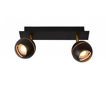 Lucide en binaire hulpprogramma's moderne rechthoek Metal Black Spot licht plafond