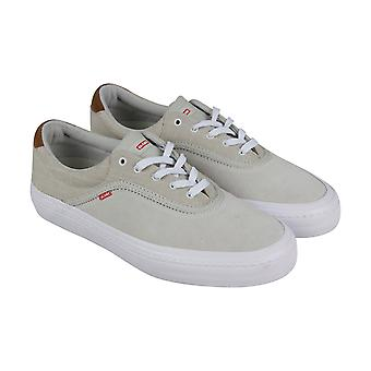 Globe Sprout Mens White Suede Sneakers Lace Up Skate Shoes