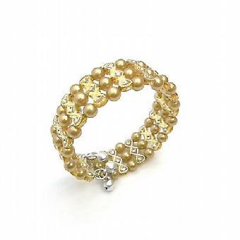 Golden Pearls mansjett armbånd Bangle elastisk armbånd kule smykker