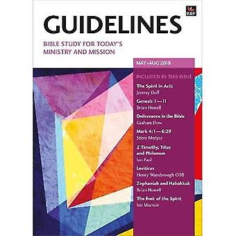 Guidelines May-August 2018: Bible study for today's ministry and mission (Guidelines)