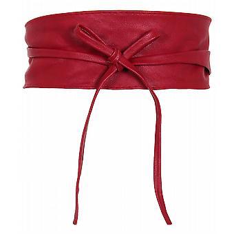 Empate de mujeres ronda PU cuero cinturón de cincha